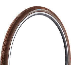 "SCHWALBE Little Big Ben Dæk Active 28"" Twin trådkant, brown-reflex"